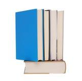 стог изолированный книгами Стоковые Изображения
