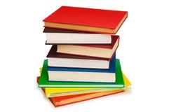стог изолированный книгами Стоковые Фото