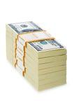 Стог изолированных долларов Стоковое Изображение