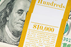Стог изолированных долларов Стоковая Фотография RF