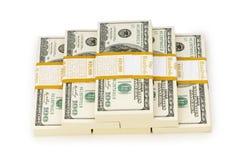 Стог изолированных долларов Стоковое Фото