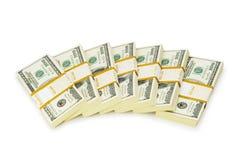Стог изолированных долларов Стоковое фото RF