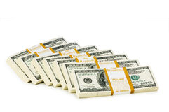 Стог изолированных долларов Стоковые Изображения RF
