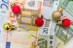 Стог изолированных банкнот евро Стоковое Фото