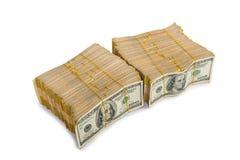 Стог изолированных долларов в концепции дела Стоковые Фотографии RF