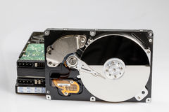 стог диска жесткого диска Стоковое Фото