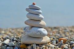 Стог камешков на пляже Стоковые Фото