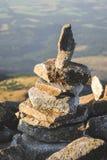 Стог камней в Mountasins Стоковые Фото