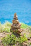 Стог камня на seashore Стоковые Фотографии RF