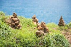 Стог камня на seashore Стоковые Изображения RF