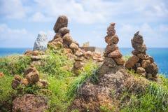 Стог камня на seashore Стоковое Изображение
