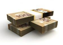 Стог канадского доллара Стоковые Фотографии RF