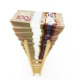 Стог канадского доллара Стоковые Изображения RF