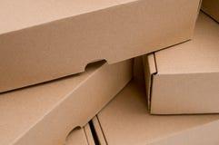 стог картона коробок Стоковые Изображения