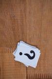Стог карточек с вопросительным знаком Стоковое Изображение RF