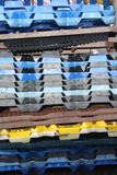 стог клетей пластичный Стоковое фото RF
