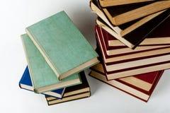 стог книг высокий Стоковая Фотография RF