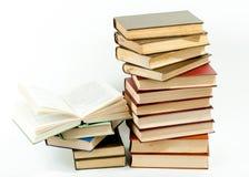 стог книг высокий Стоковая Фотография