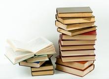 стог книг высокий Стоковые Фото