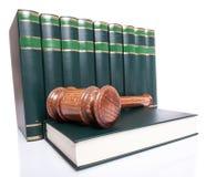 Стог книг закона и gavel судьи Стоковая Фотография