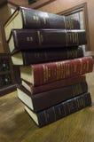Стог книг по праву Стоковая Фотография