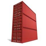 Стог контейнера для перевозок красный иллюстрация штока