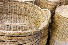 Стог корзины ротанга плетеной Стоковая Фотография RF