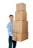 стог коробок красивый мыжской Стоковая Фотография RF