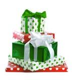 Стог коробок подарка Стоковое фото RF