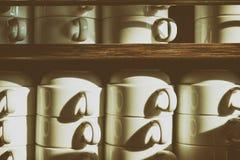 Стог кофейной чашки Стоковое Изображение