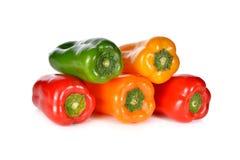 Стог красного свежей ауры сладостного, желтого, зеленого, оранжевого перца Стоковое Изображение RF
