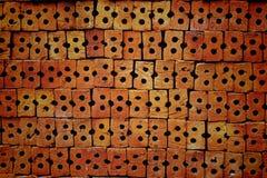 Стог красных кирпичей Стоковые Фото