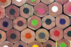Стог красочных карандашей Стоковое Фото