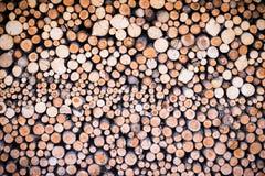 Стог круглых cutted частей швырка Стоковые Фото