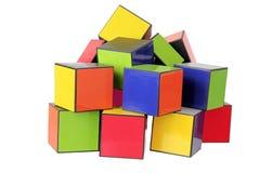 стог кубиков цвета Стоковое Фото