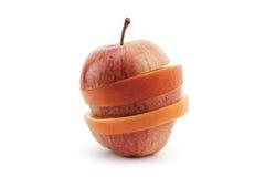 Стог куска Яблока и апельсина Стоковая Фотография RF