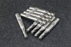 Стог массива CNC инструмента торцевой фрезы Стоковые Фотографии RF