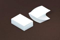 Стог много карточек бумажного шаблона к представлению Стоковое Изображение RF
