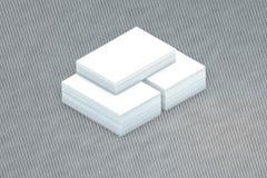 Стог много карточек бумажного шаблона к представлению Стоковая Фотография RF