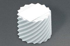 Стог много карточек бумажного шаблона к представлению Стоковые Изображения RF