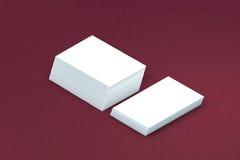 Стог много карточек бумажного шаблона к представлению Стоковое фото RF