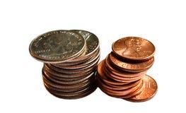 стог монеток Стоковая Фотография