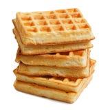 Стог мягких waffles изолированных на белизне Стоковые Фотографии RF