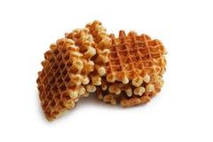 Стог мягких waffles изолированных на белизне Стоковые Изображения RF