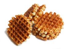 Стог мягких waffles на белизне Стоковое Изображение