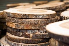 Стог новых деревянных стержней Стоковое Изображение RF