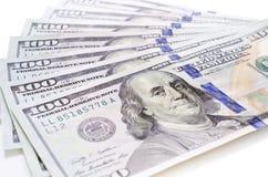 Стог новых 100 долларов Стоковое Изображение RF