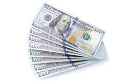 Стог новых 100 долларов Стоковая Фотография