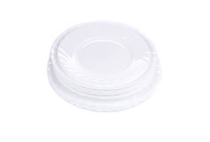 Стог новых чистых белых плит Стоковое Фото