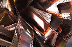 Стог ностальгических filmstrips стоковые фотографии rf